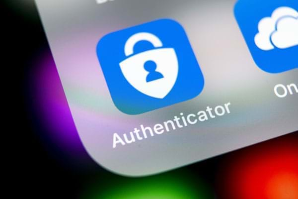 The Authenticator app on your smartphone provides you with one-time-passwords conveniently and without waiting times.